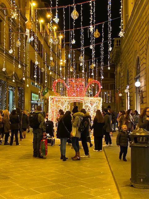 Via Tornabuoni Firenze a Natale